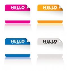 hello name tag vector image vector image