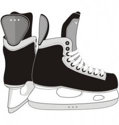 ice hockey skates boots vector image