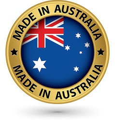 Made in Australia gold label vector image