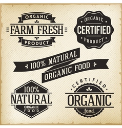 Organic Food Labels vector image vector image