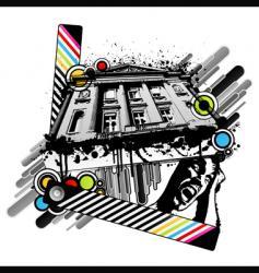 retro palace screams vector image vector image