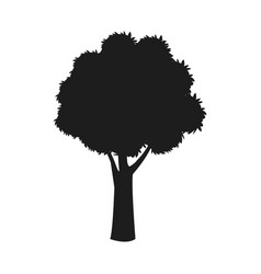 silhouette tree trunk stem branching image vector image vector image