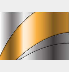 abstract gold curve line silver modern luxury vector image vector image
