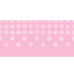 Abstract pink textile dots horizontal seamless vector image vector image