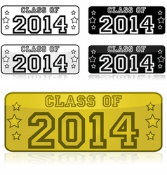 Class of 2014 stickers vector image vector image