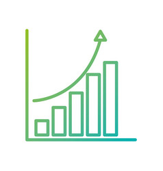 financial graph chart bar arrow growth concept vector image vector image
