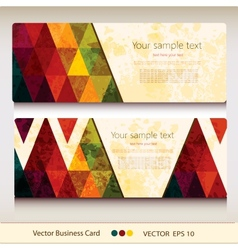 Set of abstract geometric business card vector image vector image
