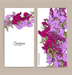 Summer background with sweet pea vector