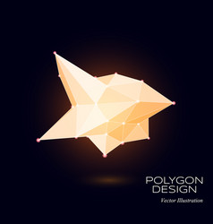3d low poly model vector image