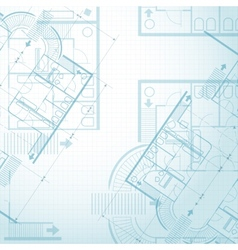 Architectural plan background vector image