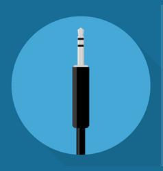 audio jack icon vector image vector image