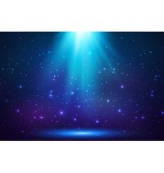 Blue shining top magic light background vector image