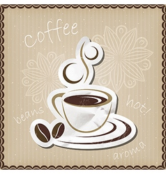 Coffee mug icon vector image vector image