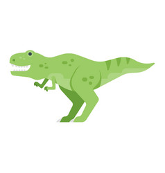 flat style of dinosaur vector image vector image