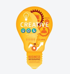 infographics light bulb design diagram line style vector image vector image