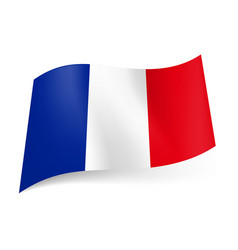national flag of france blue white and red vector image