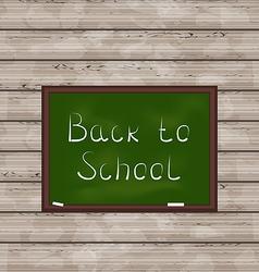 School green board on wooden texture vector image vector image