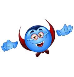 vampire emoticon vector image vector image