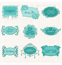 Vintage Design Elements for Scrapbook vector image vector image