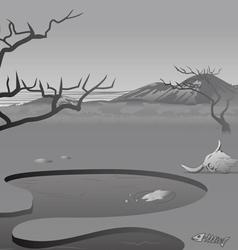 African savannah dead vector