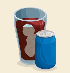 cola soda icon vector image