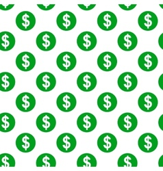 Dollar sign seamless pattern on white background vector image