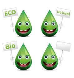 Eco drop vector image