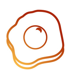 fried egg design vector image vector image