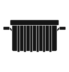 Garbage tank icon simple style vector image vector image