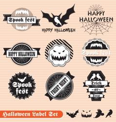 Halloween Labels Set vector image vector image