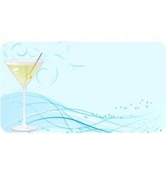 martini banner vector image