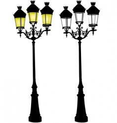 retro street lamp vector image vector image
