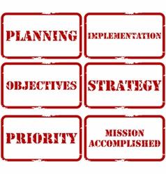 Strategic plan stamps vector image