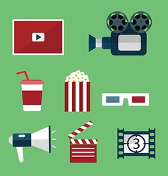 Video and Movie icons set vector image vector image
