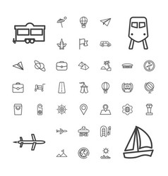 37 travel icons vector