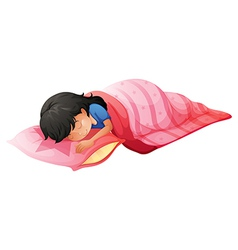 A young woman sleeping vector