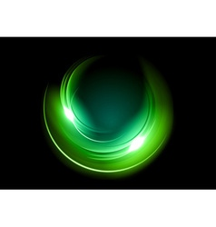 abstract circle dark green vector image