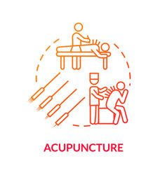 Acupuncture concept icon traditional chinese vector