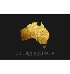 australia map golden logo creative vector image