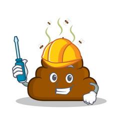 Automotive poop emoticon character cartoon vector