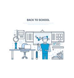 Back to school concept distance education e vector