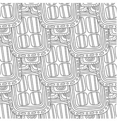 black and white decorative seamless pattern for vector image