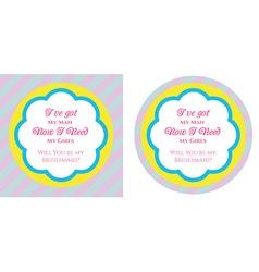Bridesmaid invitation vector