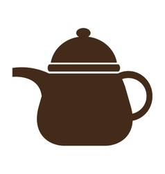 Brown kettle front view graphic vector