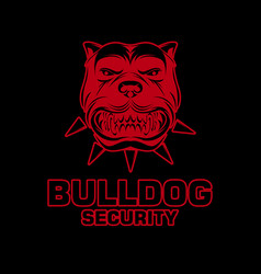 Bulldogs logo design template vector