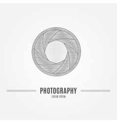 Camera shutter aperture - branding identity vector
