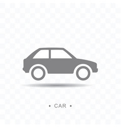 car icon on transparent background vector image