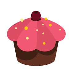 Cartoon tasty cake isolated on white background vector