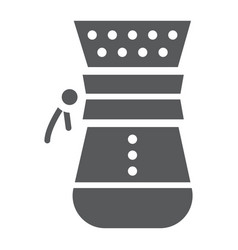 Chemex glyph icon coffee and cafe coffeemaker vector