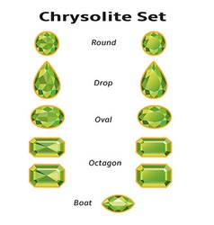Chrysolite Set With Text vector image